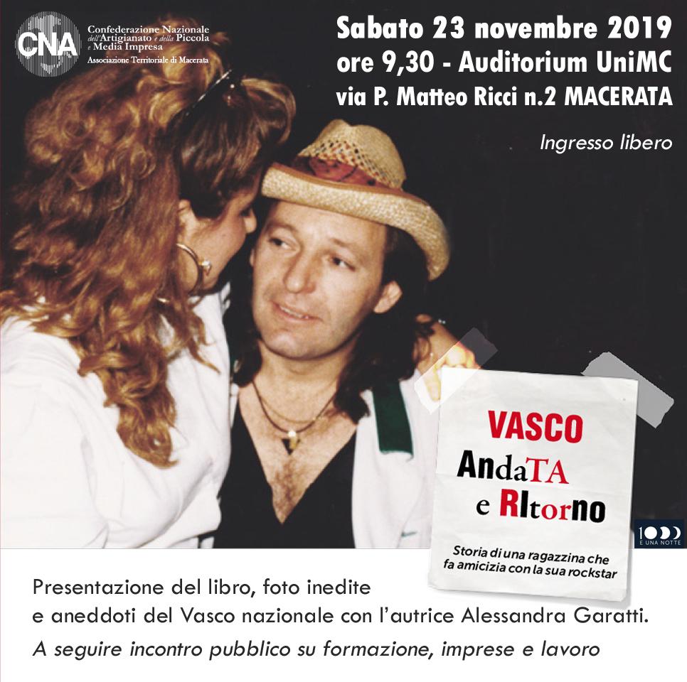 Si inizia con la presentazione del libro di Vasco Rossi