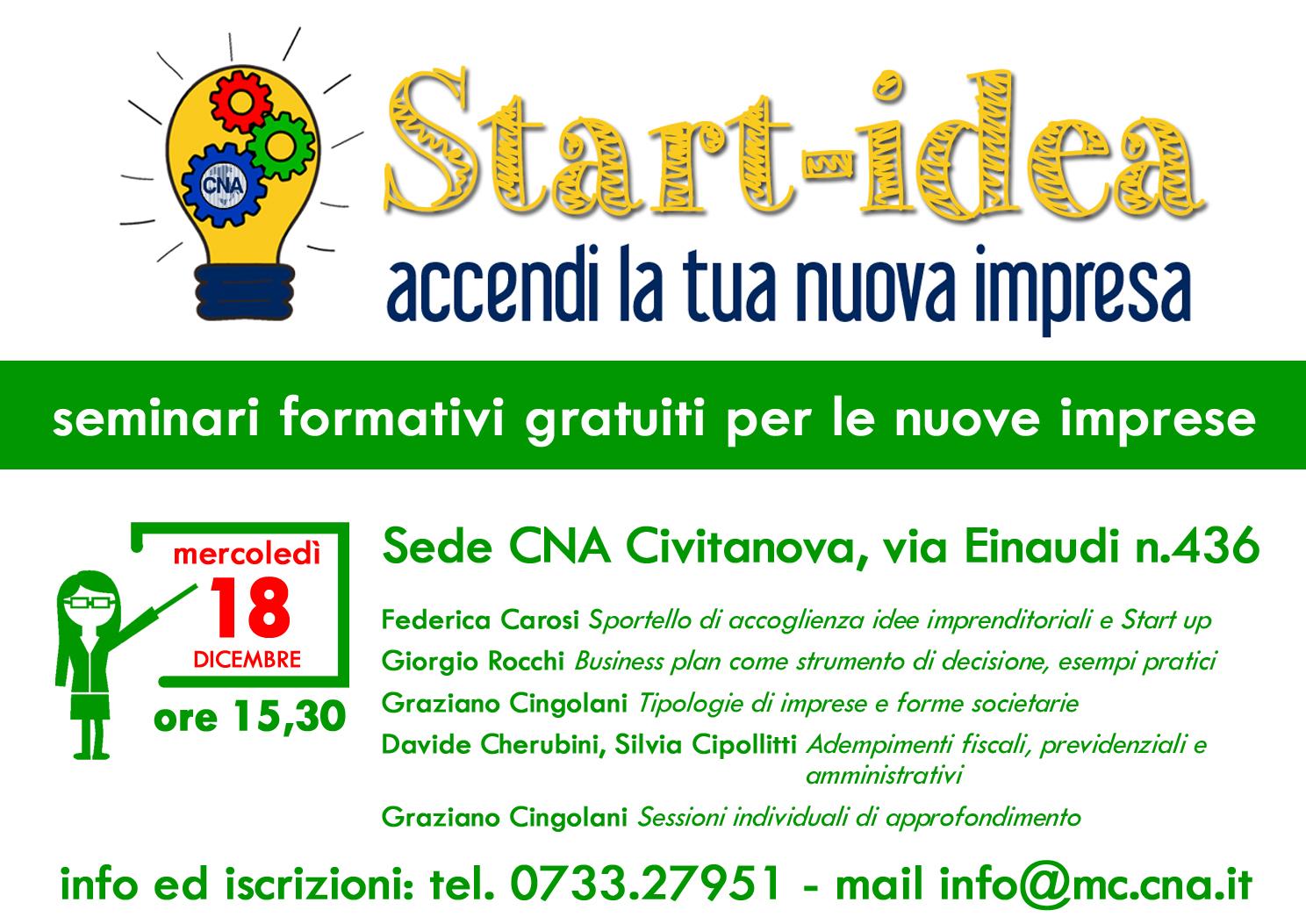 seminario startup a civitanova