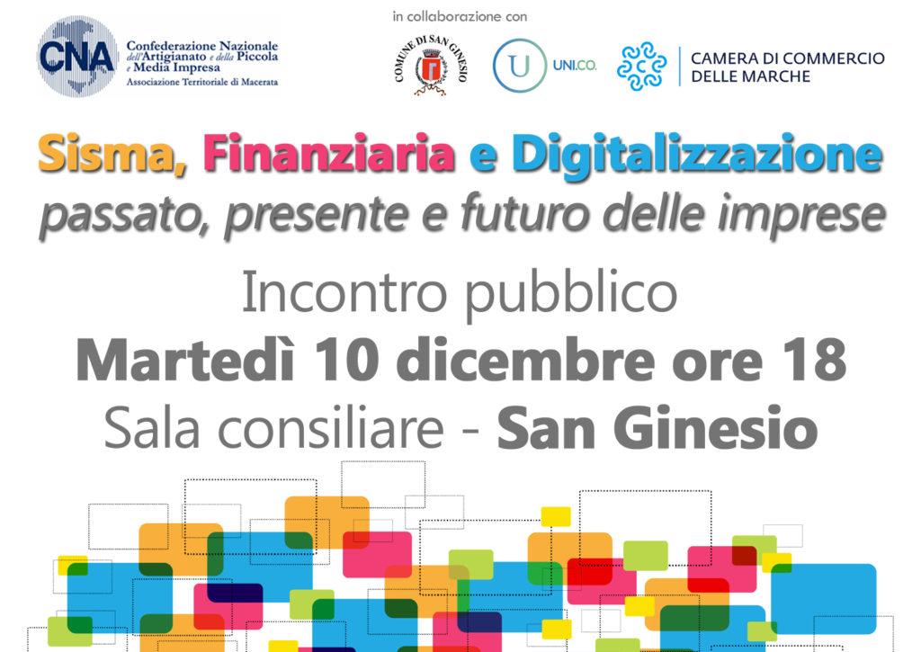 sisma finanziaria digitalizzazione a san ginesio