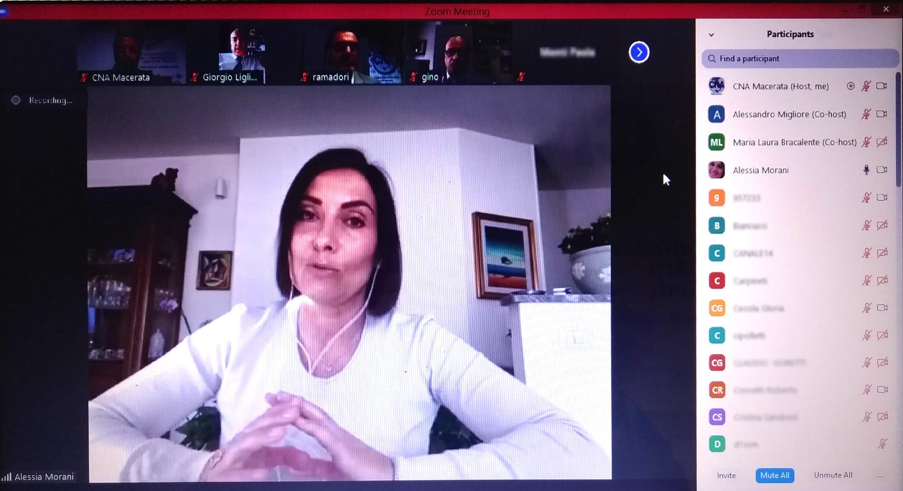 videoconferenza cna con alessia morani