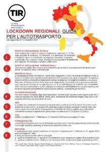 guida per i lockdown regionali per l'autotrasporto