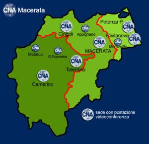le macroaree di CNA Macerata