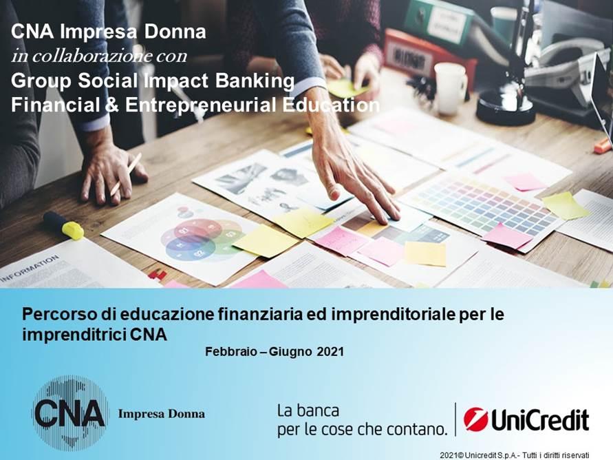 Percorso di formazione finanziaria ed imprenditoriale CNA Impresa Donna