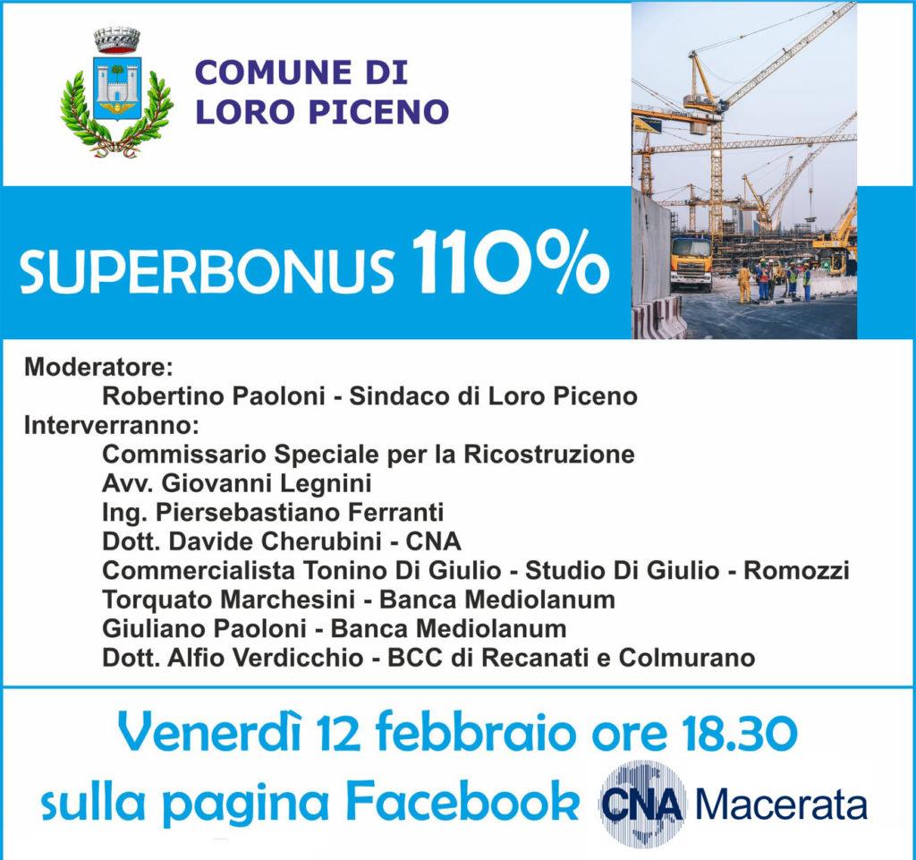 superbonus 110 diretta facebook cna