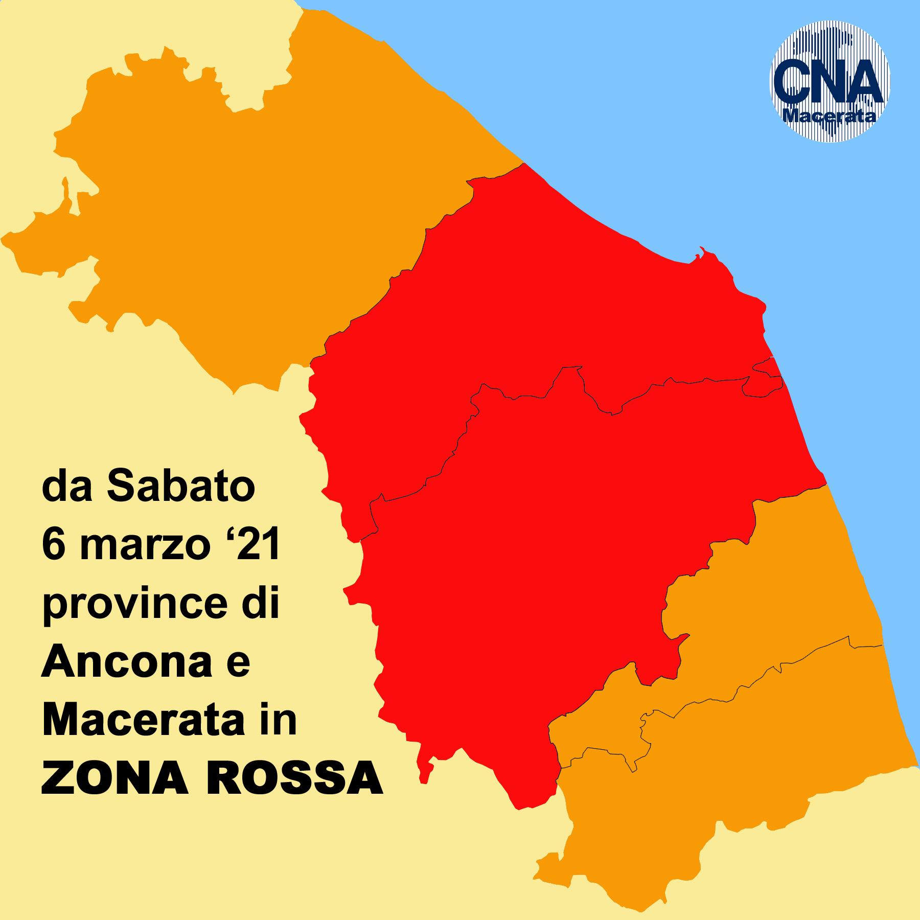 mappa zone rosse marche